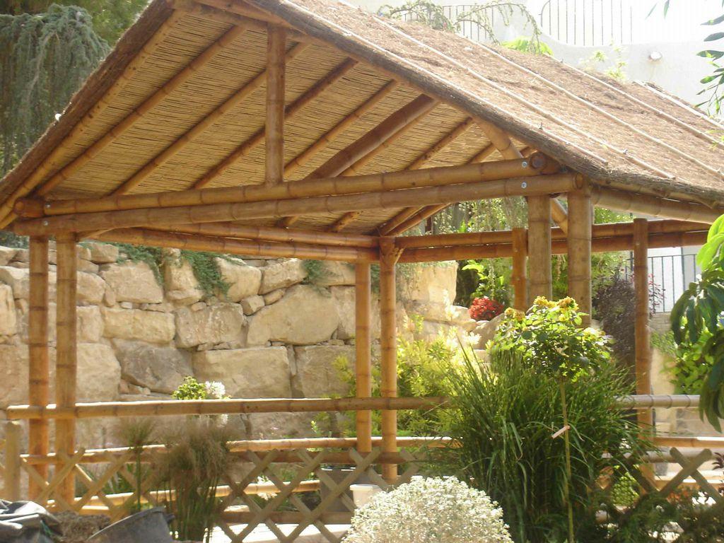 Pergolas hechas con bambu innovation - Pergola bambu ...