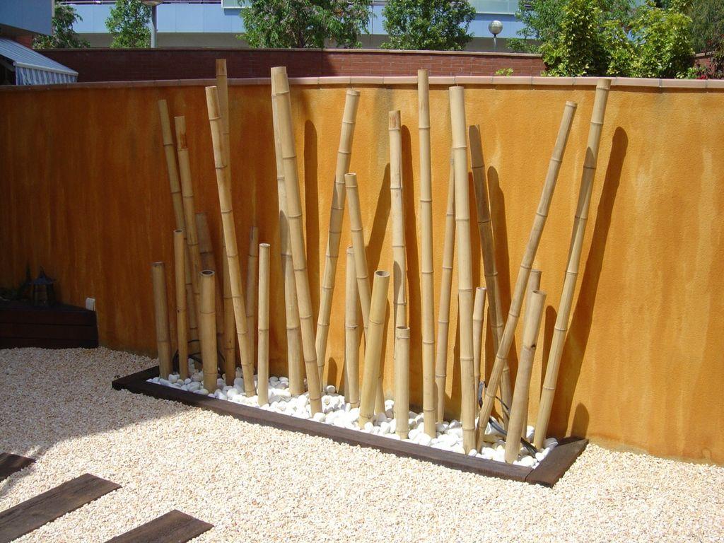 Jardinera Bolo Blanco Bambu Dbambu La Web Mas Visitada De - Palos-de-bambu