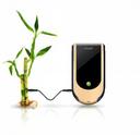 Teléfono móvil de bambú